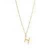 H Initial Necklace - Gold - Edge of Ember Jewellery