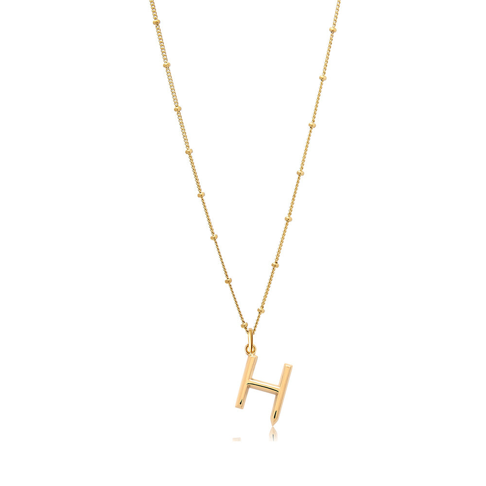 H Initial Necklace - Edge of Ember Jewellery