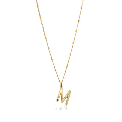 M Initial Necklace - Edge of Ember Jewellery