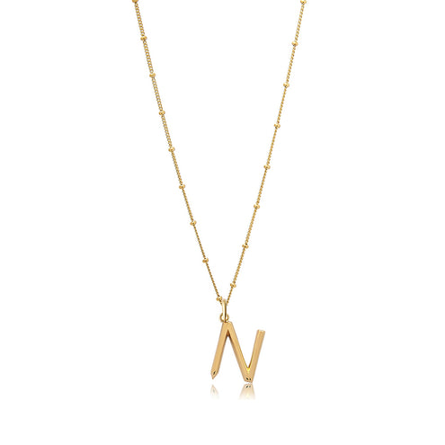 N Initial Necklace - Edge of Ember Jewellery
