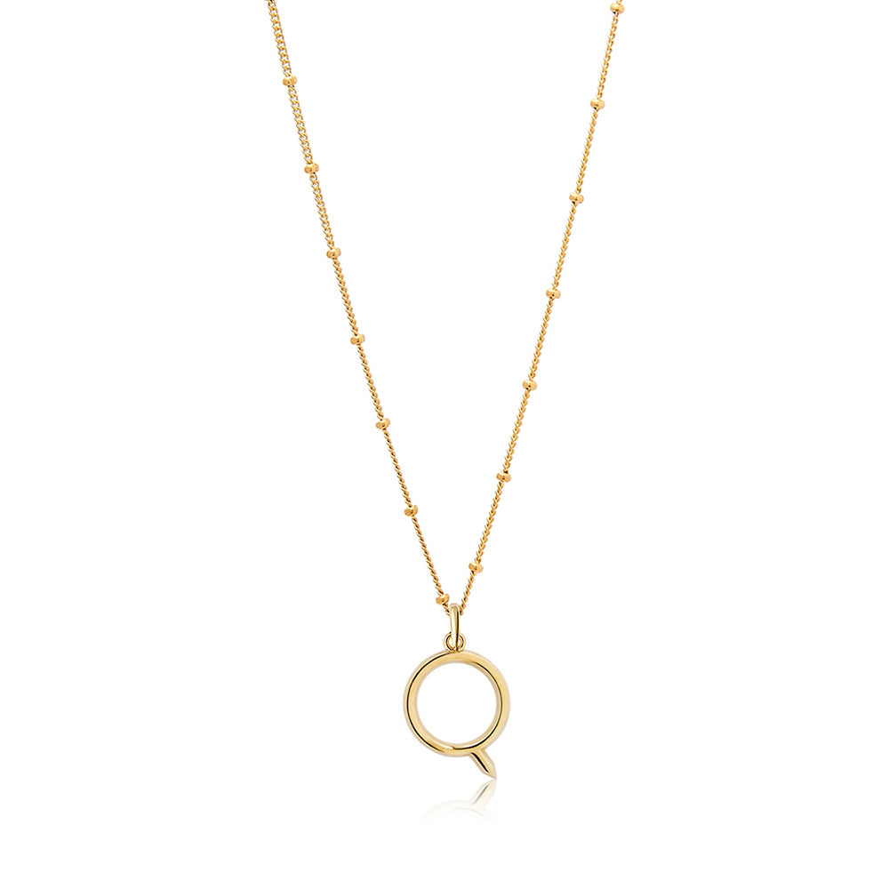 Q Initial Necklace - Edge of Ember Jewellery