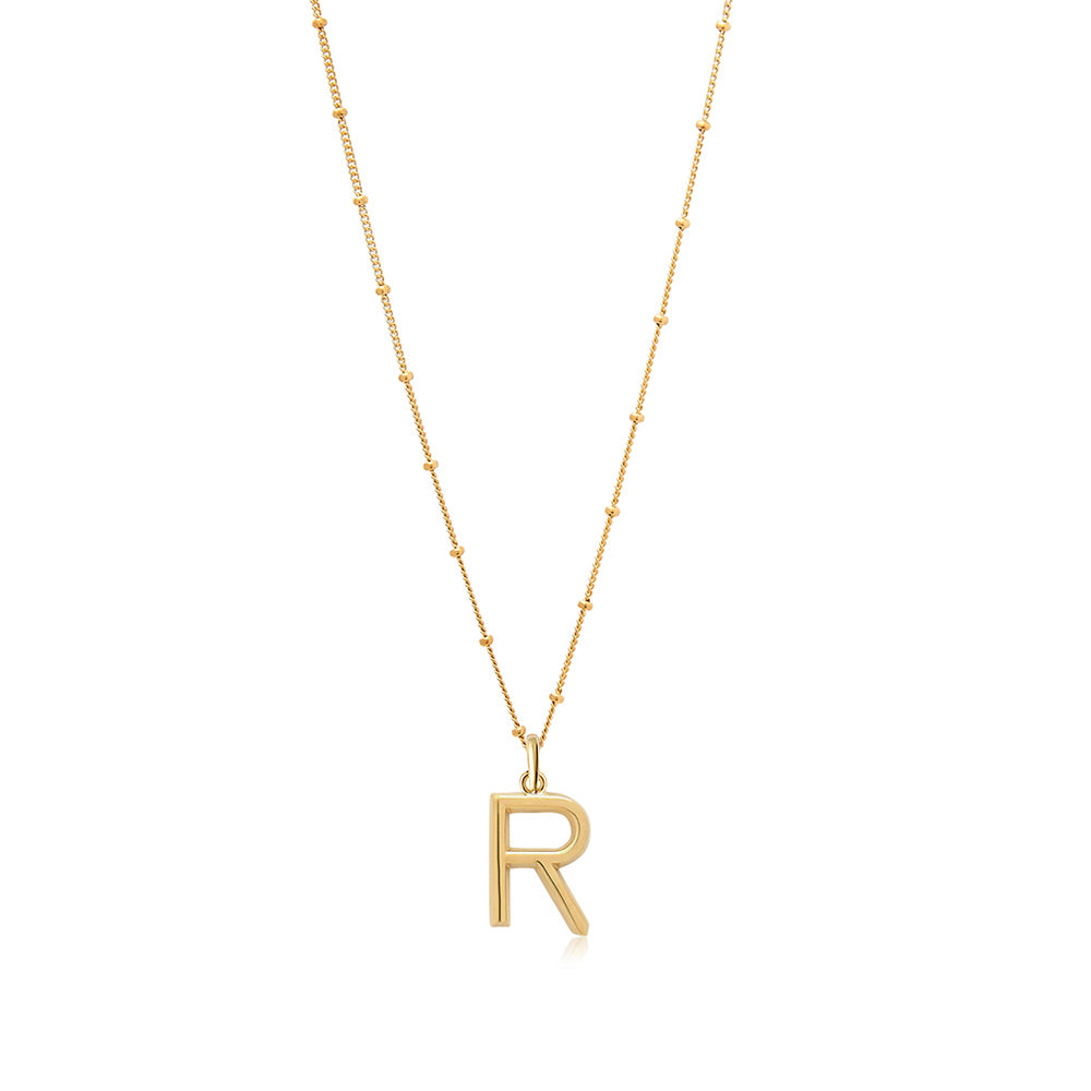 R Initial Necklace - Edge of Ember Jewellery