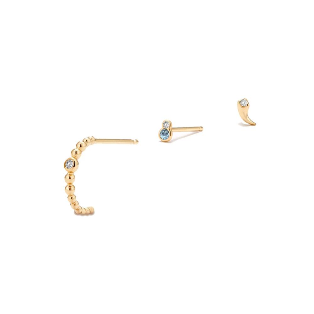 Solid Gold Ear Stacking Set - Edge of Ember Jewellery
