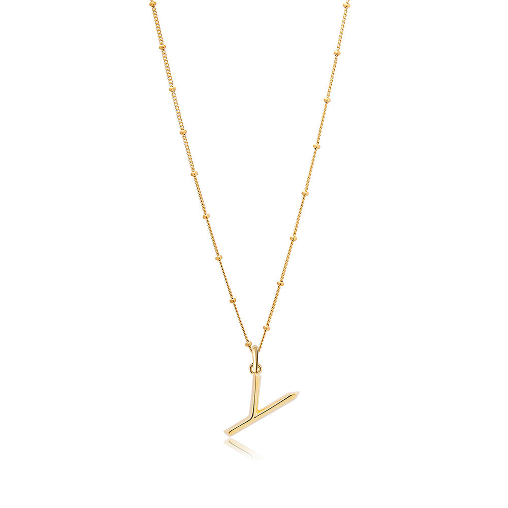 Y Initial Necklace - Edge of Ember Jewellery
