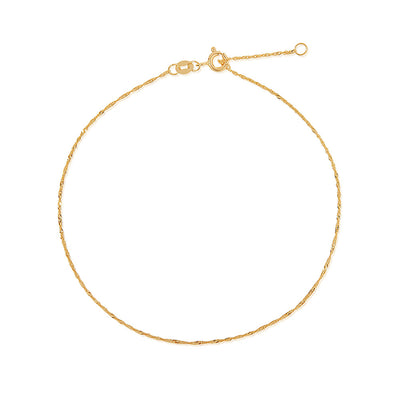 Belle Fine Chain Anklet - Edge of Ember Jewellery