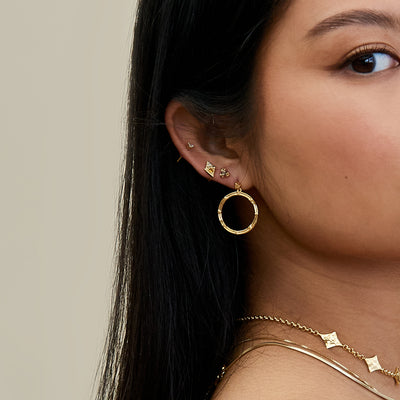 Courage Hoop Earrings - Gold