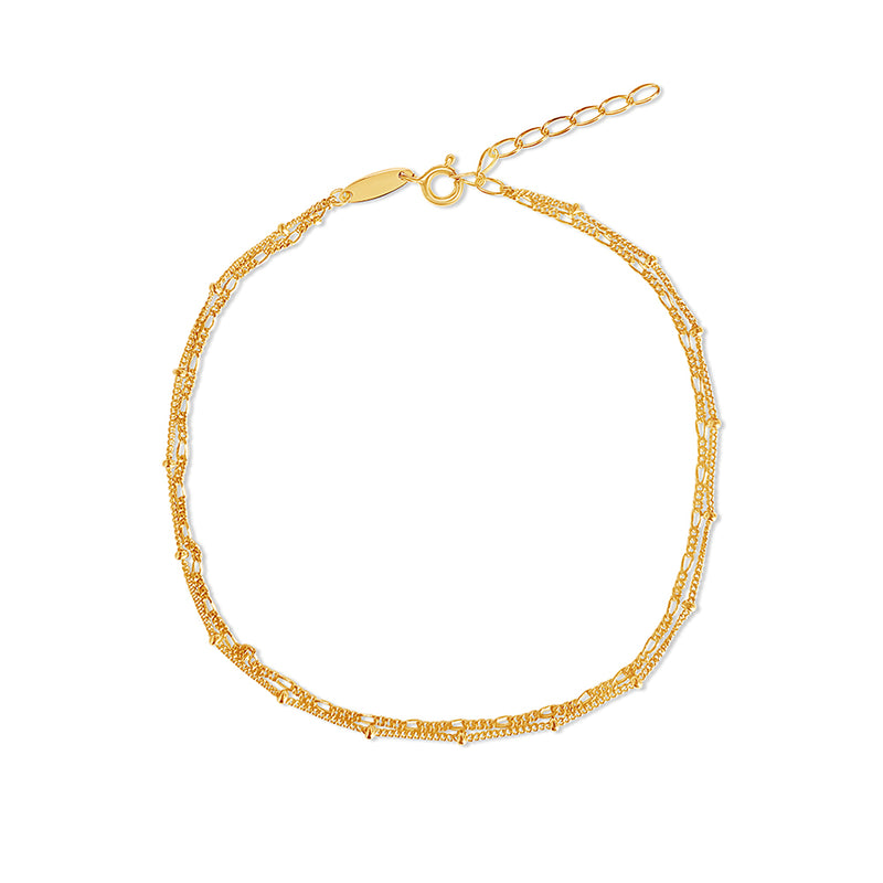 Double Gold Anklet Chain