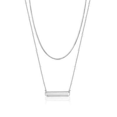 Edie Bar Silver Necklace Set - Edge of Ember Jewellery