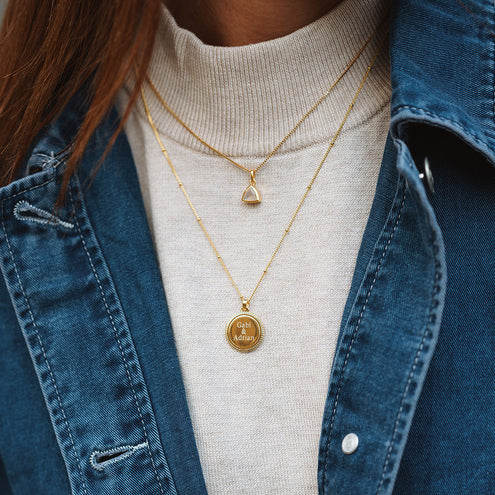 Gold Coin Pendant