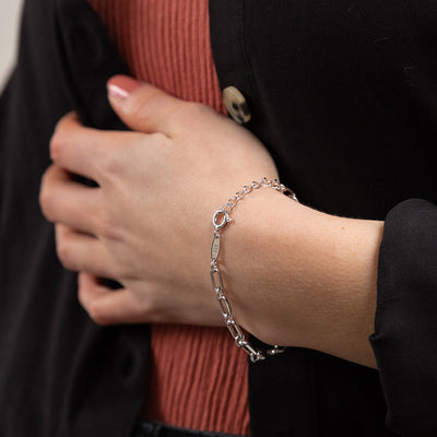 Everyday Chain Bracelet - Silver - Edge of Ember Jewellery