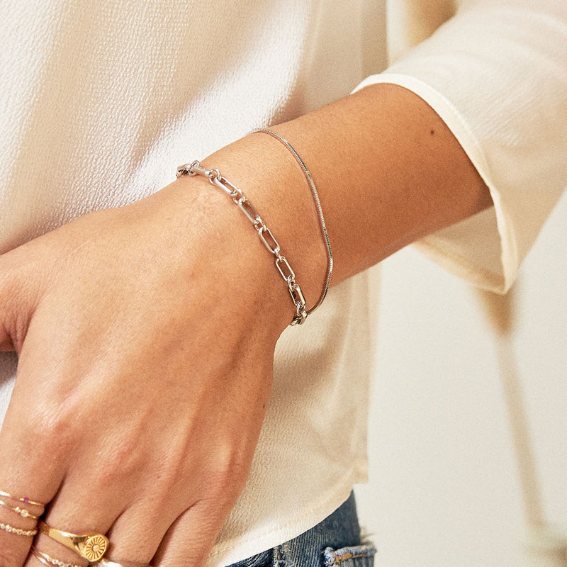 Everyday Silver Bracelet Stacking Set - Edge of Ember Jewellery