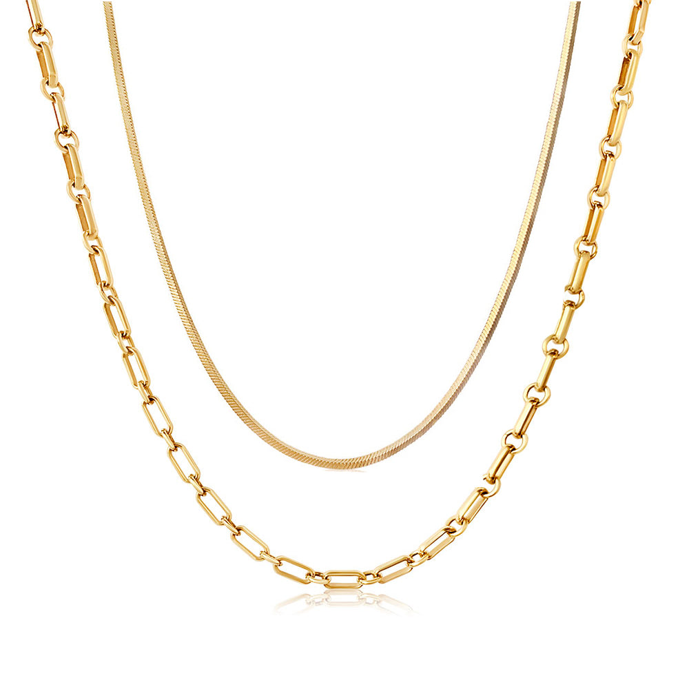 Layered Simple Gold Chains
