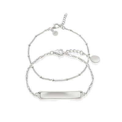 ID Bracelet Stacking Set - Silver - Edge of Ember Jewellery