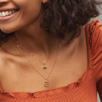 Peridot Charm Necklace - Edge of Ember Jewellery