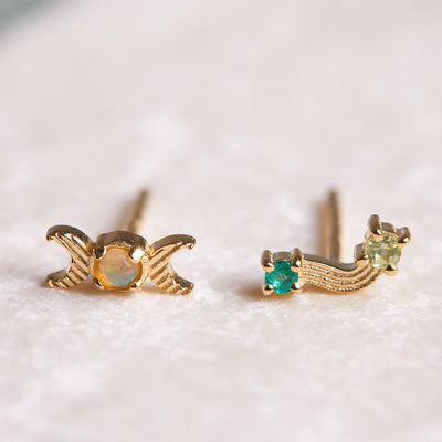 Intuition Stud Earrings - Gold