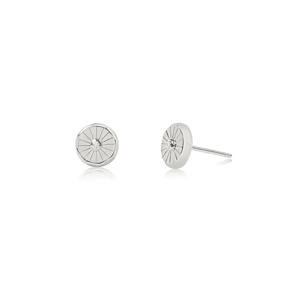 Lumina Stud Earrings - Silver - Edge of Ember Jewellery