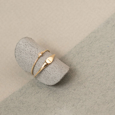 Mini Signet Ring - Edge of Ember Jewellery