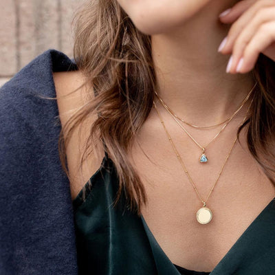 Blue Topaz Charm Necklace - Edge of Ember Jewellery