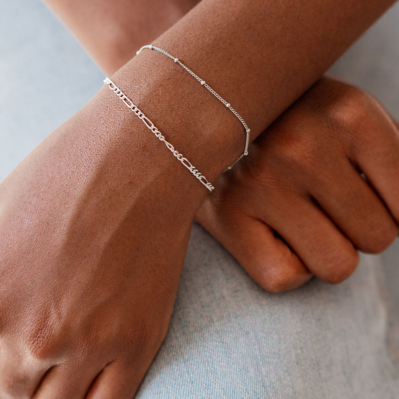 Silver Bridge Chain Bracelet - Edge of Ember Jewellery