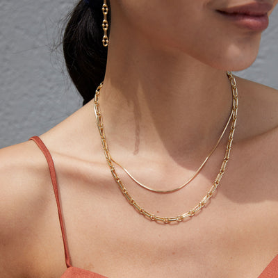 Chain Necklace Layering Set - Gold - Edge of Ember Jewellery