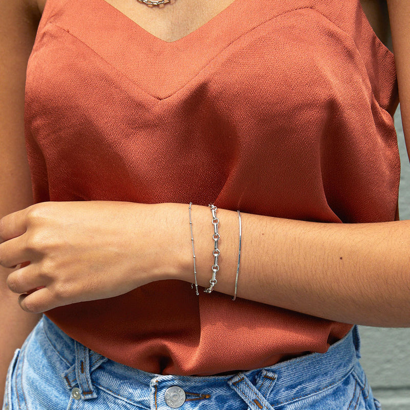 Everyday Chain Bracelet - Silver
