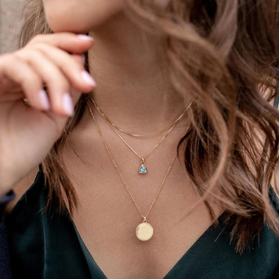 Monogram Gold Coin Pendant - Edge of Ember Jewellery