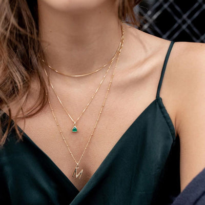 Green Chalcedony Charm Necklace - Edge of Ember Jewellery