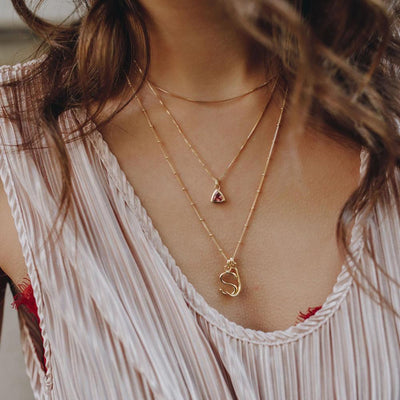 Box Chain Necklace - Gold - Edge of Ember Jewellery
