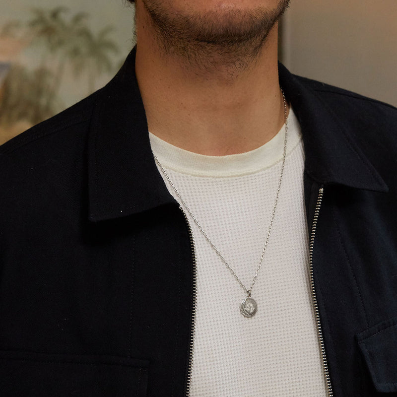 Men's Coin Necklace - Edge of Ember Jewellery