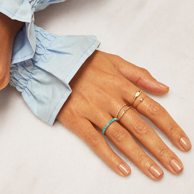 Blue Topaz Gradient Ring - Edge of Ember Jewellery