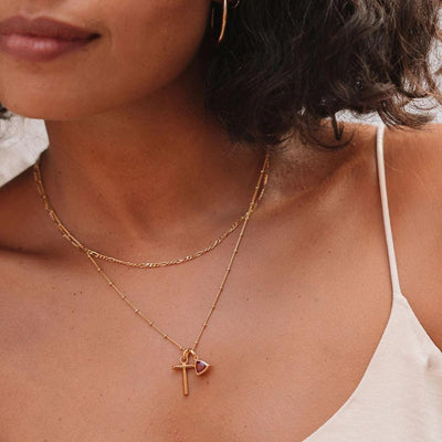 T Initial Necklace - Gold - Edge of Ember Jewellery