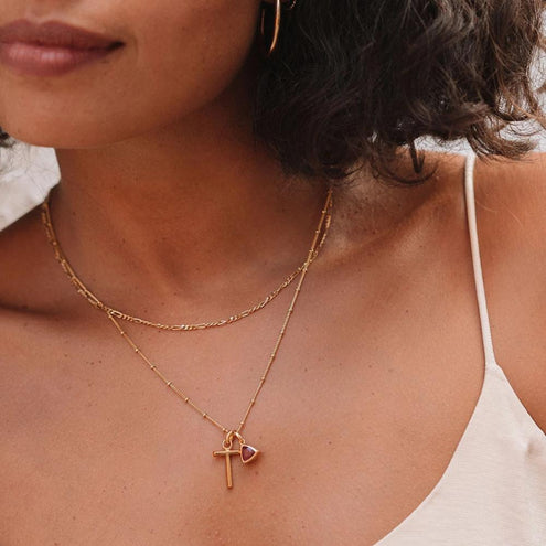 T Initial Necklace - Edge of Ember Jewellery