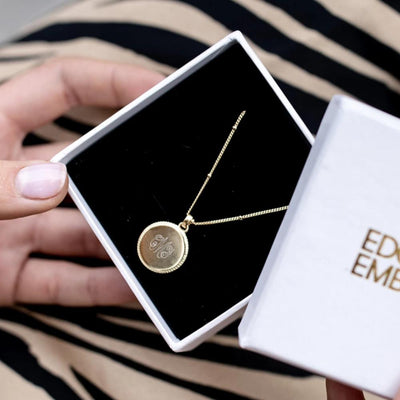 Monogram Coin Necklace - Edge of Ember Jewellery