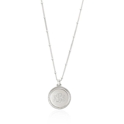 Monogram Silver Necklace - Edge of Ember Jewellery