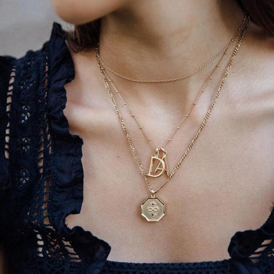 A Initial Gold Necklace - Edge of Ember Jewellery