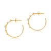 Sunset Pearl Hoops - Edge of Ember Jewellery