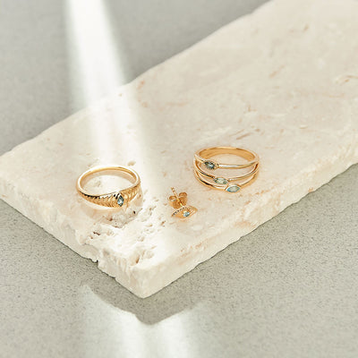 PREORDER:  Protection Trio Ring - Gold
