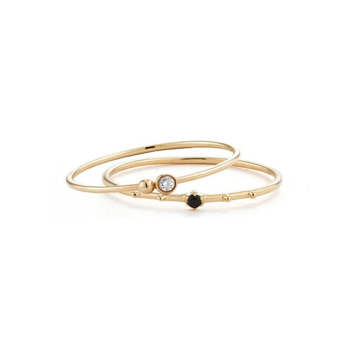 Sparkly Ring Stacking Set - Edge of Ember Jewellery