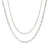 Silver Chain Necklace Layering Set