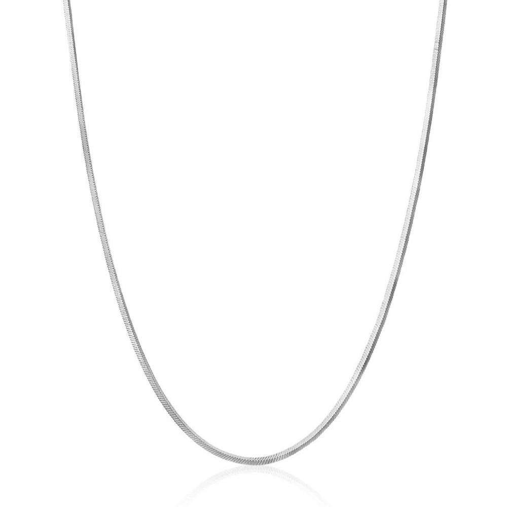 Snake Chain Necklace - Silver - Edge of Ember Jewellery