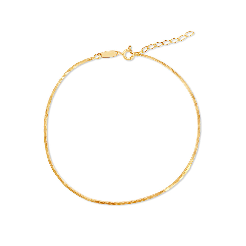 Snake Anklet Chain - Gold - Edge of Ember Jewellery