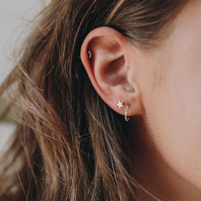Tiny Star Earrings - Edge of Ember Jewellery