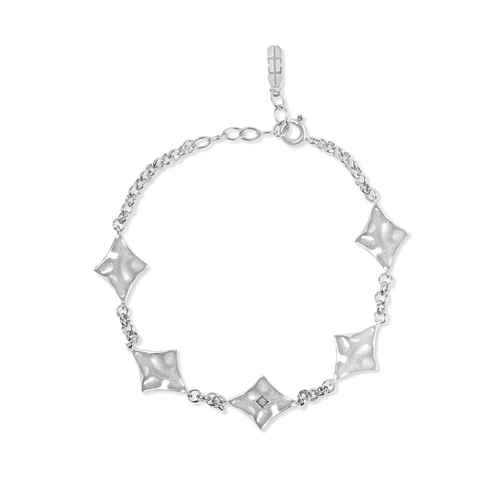 Inthefrow Supernova Bracelet - Silver - Edge of Ember Jewellery