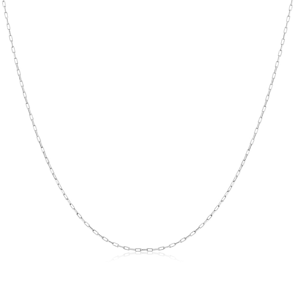 Cable Chain Silver Necklace