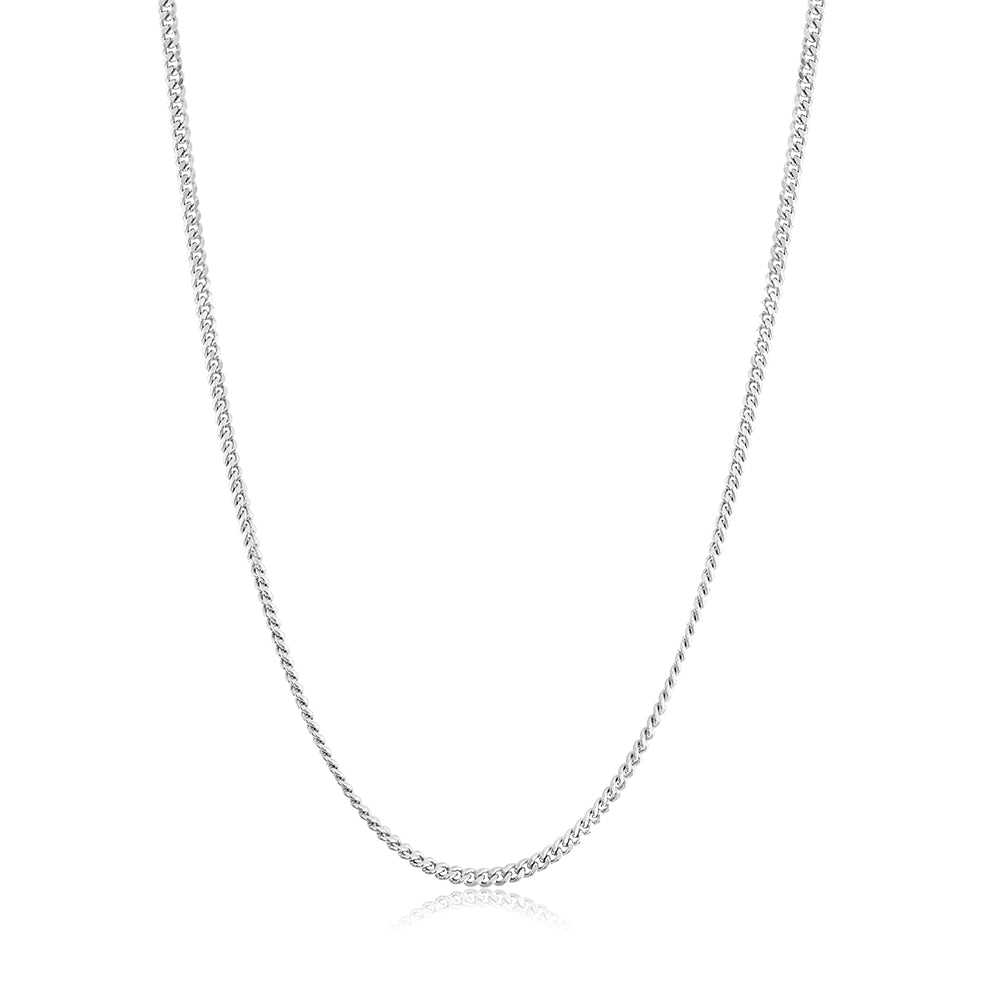 Men's Curb Chain Silver Necklace