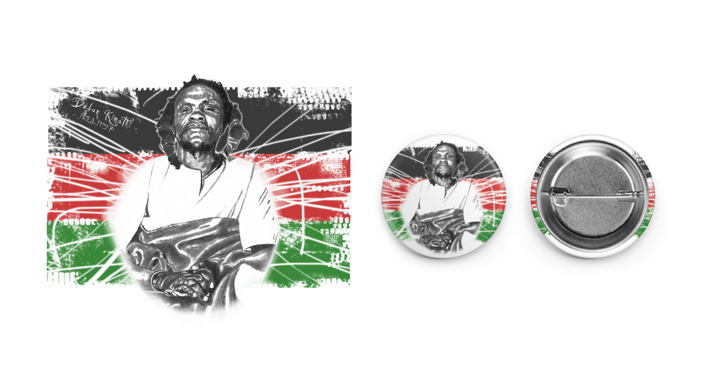 Dedan Kimathi Circle Button