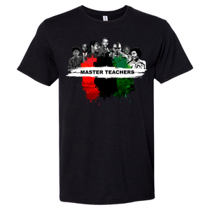 Pre-Order (Shirts will shipped on July 27th) Enjoy KonciousT 'Master Teacher' shirt which honor our great African teachers: Malcolm X, Frances Cress Welsing, Marcus Garvey, Amos Wilson, John Henrick Clarke, Assata Shakur, and Dr. Yosef Alfredo Antonio Ben-Jochannan.