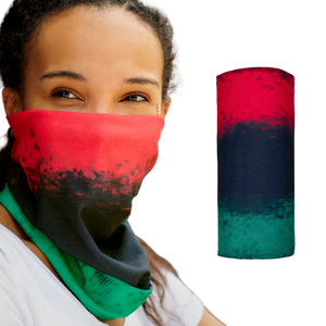 African American Face Mask / Africa Neck Gaiter / African Flag / Pan African Flag / African Art / Black Art / Black History / African Pride