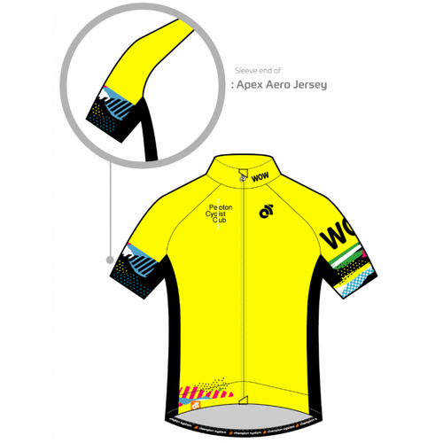 PCC Yellow Apex Aero Short Sleeve Jersey