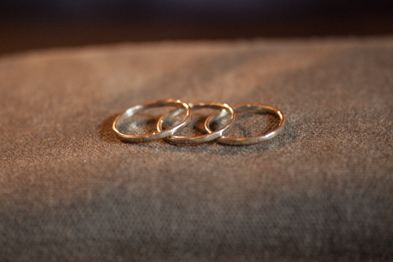 yellow gold stacking rings